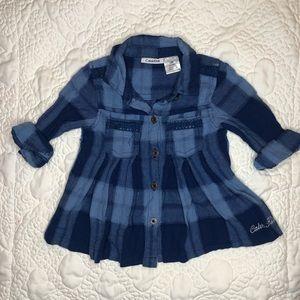 A denim shirt for girls
